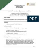 Calibracion de Equipos e Instrumentos