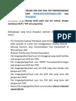 TATA CARA PEMROSESAN IZIN ONLINE SIUP DAN TDP PERPANJANGAN.pdf