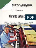 BAMBUCO VARIADO. Para piano. Gerardo Betancourt.