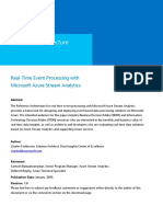 Real Time Event Processing With Microsoft Azure Stream Analytics
