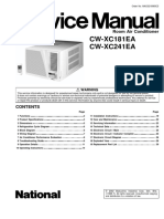 Panasonic CW-XC181EA CW-XC241EA Service Manual Repair Guide