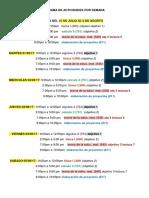 Cronograma de Actividades Por Semana
