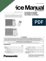 Panasonic CS-W7DKE CS-W9DKE CS-W12DKE Service Manual Repari Guide