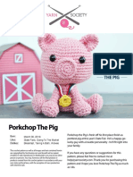 Yarn Society Porkchop the Pig