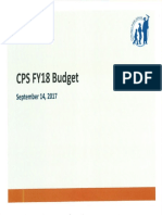 Chicago Public Schools Budget Briefing To Aldermen 9-14-17