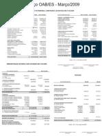 Prestação de Contas 10 - Março 2009