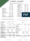 Prestação de Contas 12 - Junho 2009