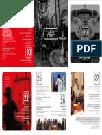 Programa del 99º Aniversario de la Escuela Nacional Superior Autónoma de Bellas Artes del Perú