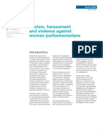 Sexism, harassment and violence against women parliamentarians