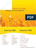 MUET Writing (Vocabulary Exercise) - Answer Scheme