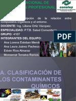 Clasificacion de Contaminantes Quimicos