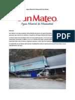 Agua Mineral de Manantial San Mateo