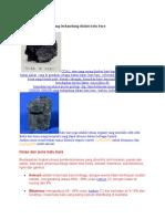 Batu Bara Dan Unsur Yang Terkandung Dalam Batu Bara