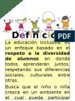 Educación inclusiva.