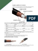 Karakteristik Kabel Jaringan Coaxial