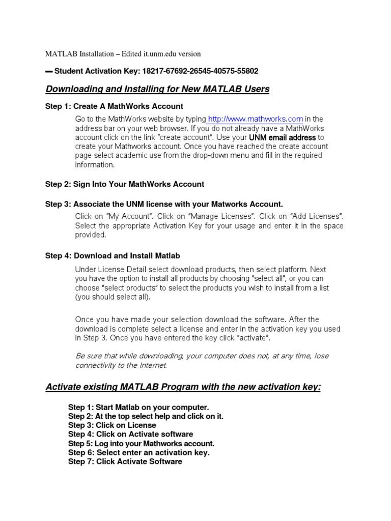 Matlab Install Aug14