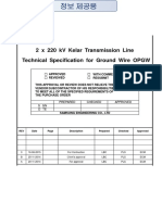 Technical Specification for Ground Wire OPGW