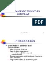Procesamiento Termico en Autoclave.