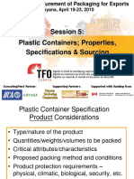 Guyana TFO Pkg W'Shp Session 5 - Plastic Containers