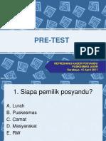 Pre-test Refresing Kader