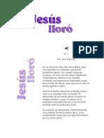 Jesus Lloró