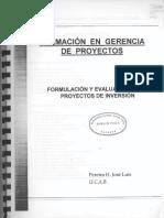 Jose Luis Pereira - Formulacion & Evaluacion de Proyectos de Inversion