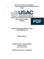 Temas Orales de Lorenzo EFPEM
