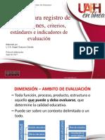 3.6 Presentación Registro de Dimensiones de Evaluación