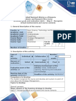 Activities Guide and Evaluation Rubric - Step 0 - Recognize Virtual Environments and Course Contents