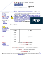 Verb Patterns English