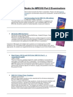 Recommended Books for MRCOG Part 2 Examinations