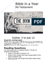 Bible in a Year 40 OT Esther 3 to Job 12