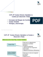 Costeo Directo (Variable) vs Costeo por absorción (Total)