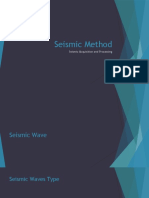 SEISMIC METHOD - Wave - Acquisition - Processing