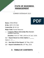Siemens Internship Report (Cbm)