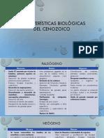 Características Biológicas Del Cenozoico