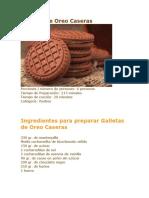 Galletas de Oreo Caseras