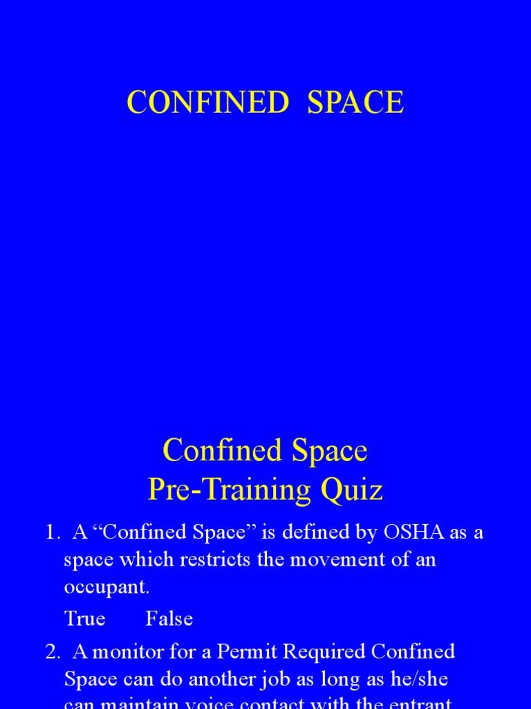 Confined Spaces OK | Carbon Monoxide | Odor