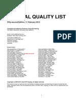 Senarai Penerbit Journal Terbaik Sehingga 2014