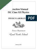 ISC Class 12 Physics Practicals