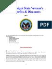 Vet State Benefits & Discounts - MS 2017