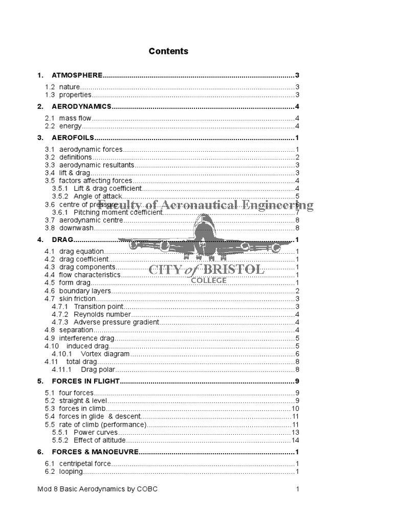 Module 8- Basic Aerodynamics doc | Airfoil | Stall (Fluid Mechanics)