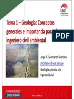 Tema 1 - Geología - Conceptos Generales e Importancia..