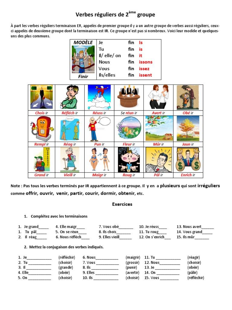 Verbes Reguliers De 2eme Groupe Verbe Echecs