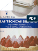 Las Tecnicas Del Chef (Le Cordon Bleu) - 2002
