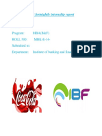 Coca Cola Beverages Fortnightly Report