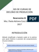 Analisis de Curvas de Declinio de Produccion