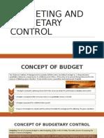 Budget & Budgetory Control