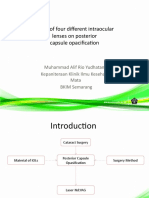 Effect of Four Different Intraocular Lenses on Posterior