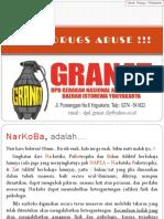 Fight Drugs Abuse !!! Mahasiswa